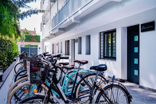 bicicletas en el hotel